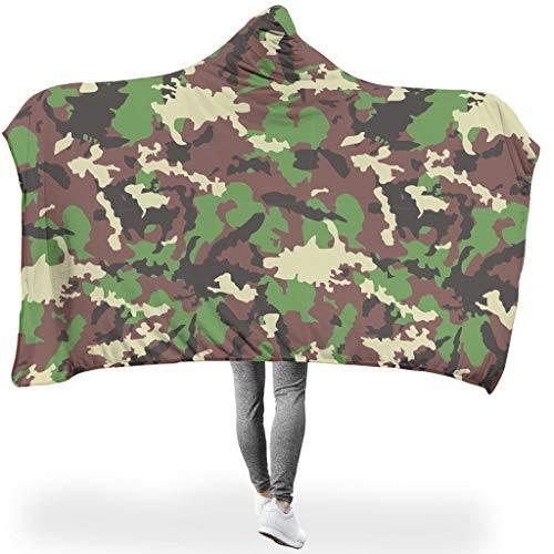 Lind88 grote hoodies deken camouflage ontwerp prints microvezel draagbaar badjas kap - draagbare deken past tieners gebruik
