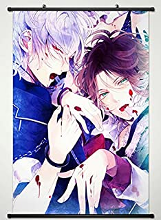 Wall Scroll Poster Fabric Painting For Anime Diabolik Lovers More Blood Sakamaki Ayato & Sakamaki Subaru 032 S