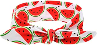 Baby Girls Hair Band Fashionable Floral Bow Knot Headbands Accessory (watermelon)