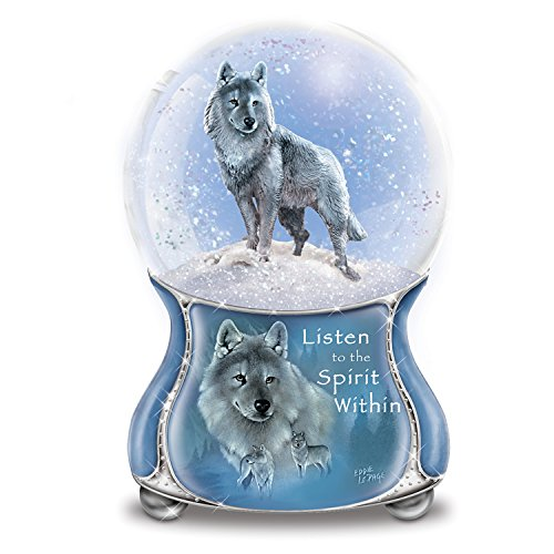 The Bradford Exchange Eddie Lepage Silver Scout Musical Glitter Globe from