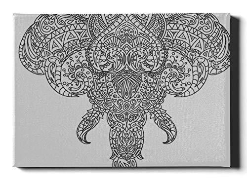 Casa Decoración de la pared Líneas de maquillaje Elefante Paredes Art Decor 12 X 16 pulgadas (30x40cm) Arte de la ventana Decoración de la pared Obras de arte de la pared Cuadros que cuelgan e