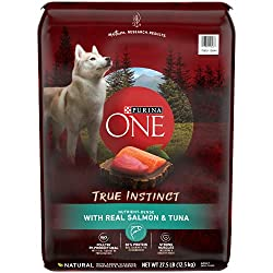 in budget affordable Purina Protein-rich naturally dried food for dogs, SmartBlend True Instinct and real salmon and tuna –…
