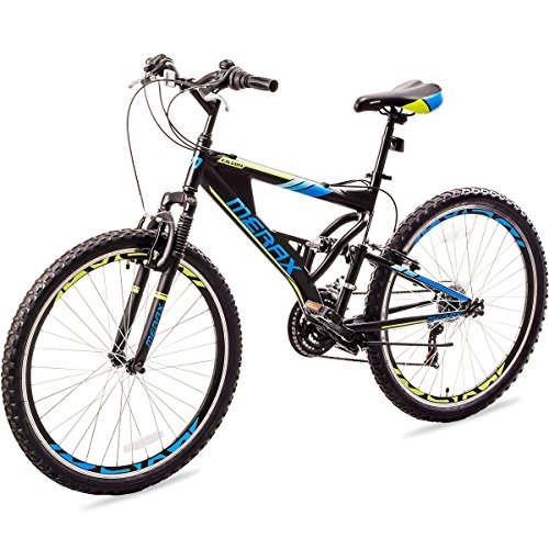 "Merax MS036323BAA Falcon Full Suspension Mountain Bike Aluminum Frame 21-Speed 26"" Bicycle"