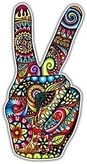 Peace Sign Sticker Hand Deuces Decal by Megan J Designs - Laptop Window Car Vinyl Sticker