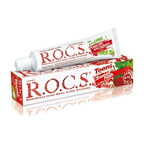 ROCS teens süße Explosion Erdbeere Zahncreme 74g, 6er Vorteilspack (6x 74g)
