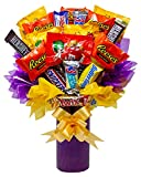Candy Bouquet Fun Sized Mini Candy Variety Assortment - Congratulations - Birthday - Get Well Soon - Thank You