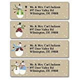 Let It Snow Personalized Return Address Labels – Set of 240, Small Self-Adhesive, Flat-Sheet Labels (4 Christmas Designs), by Colorful Images