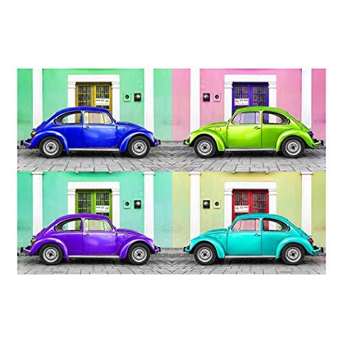 Vliestapete Farbige Beetles Premium, HxB: 320cm x 480cm