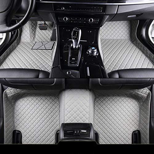 MZLJL Auto Fußmatten, Auto Auto Boden Fußmatte für Dodge Journey Caliber Avenger Challenger Charger wasserdicht Autozubehör für Linkslenker, Grau