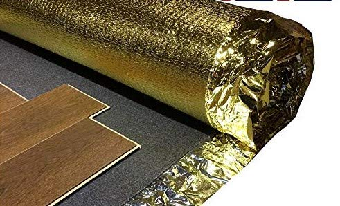Acoustic Sonic Gold 5mm Underlay for Wood or Laminate Flooring (30m² 2 Rolls)