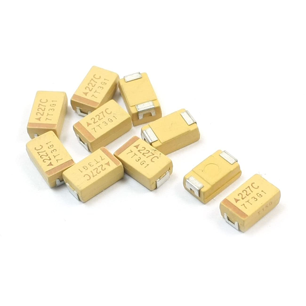 有利世辞準備するuxcell 10個入り SMT SMD 7343 D タイプ 220uF 16V チップ タンタル コンデンサ