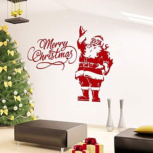 Hetingyue Muursticker Vrolijk Kerstmis Santa sticker van vinyl decoratie voor uw huis raamfolie muursticker