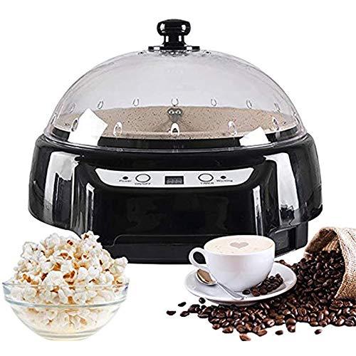 500G Coffee Roaster Maschine Startseite Kaffeebohnen Röstmaschine Mit Timing-Funktion Temperatur Einstellbar Für Kaffee, Rohe Bohnen, Erdnüsse, Getreide, Gewürze Backe,Schwarz