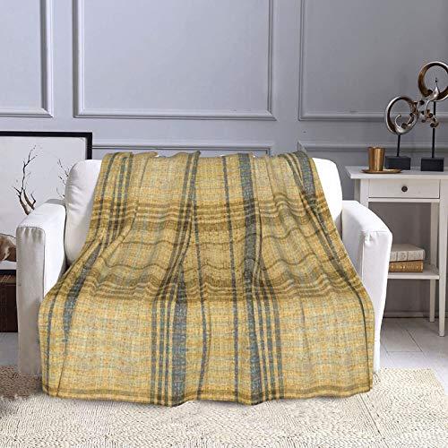 KCOUU Couverture polaire 127 × 152 cm Plaid en lin doux et chaud pour canapé, lit, canapé, voyage, maison, bureau, toutes saisons