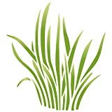 Hierba plantilla–reutilizable de pared plantillas para pintar–mejor calidad guardería plantillas para cuarto de bebé–uso en paredes, suelos, tejidos, cristal, madera, terracota, y más..., large