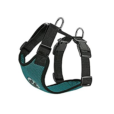 Slowton Dog Harness, Pet Vest Harness for Dogs Safety in Car Adjustable Neck and Chest Strap Breathable Soft Fabric with Quick Release Buckle for Travel Outdoor Walking