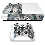 MightySkins Skin Compatible with Microsoft Xbox One S - Wolf | Protective, Durable, and Unique Vinyl Decal wrap Cover | Easy to Apply, Remove, and Change Styles | Made in The USA