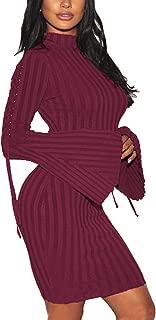 Best bell sleeve turtleneck dress Reviews
