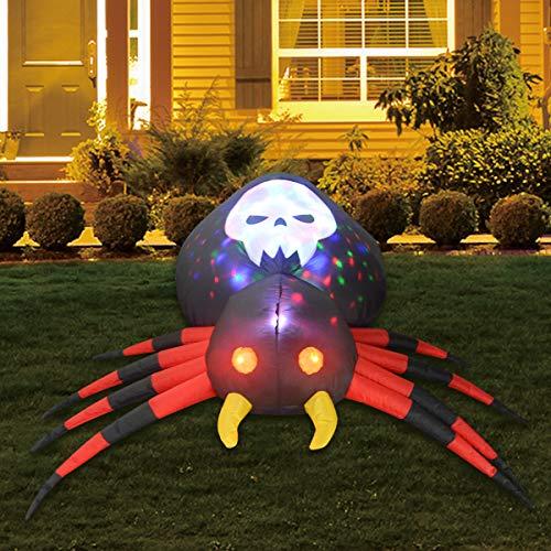 GOOSH 6FT Inflatable Halloween Spider with Magic Light Blow Up Yard Decor Indoor/Outdoor Decorations