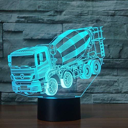 Licht 3D LED Illusion Mixer Auto Modell Nachtlicht Led 7 Farben Blinkende Tischlampe für Kinder Neuheit Geschenke Lichter Raumdekorationen Acryllampe