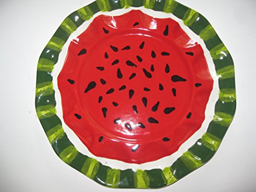 USA hand painted Watermelon deviled egg platter for the 4th or all year long