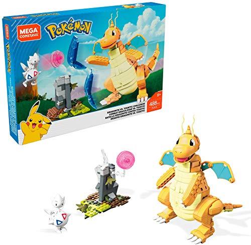 Mega Construx FVK75 - Pokemon Dragoran vs. Togetic Bauset, mit Bausteinen, Spielzeug ab 8 Jahren