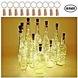 [Packung mit 10]Weinflasche Lichter, Kork LED Lichterketten mit Batteriebetriebenen Draht...