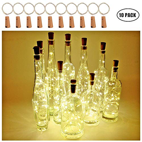 Botella de vino Luces con corcho, 2 metros con 20 LED Luces