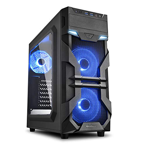 Sharkoon VG7-W blau, PC-Gehäuse