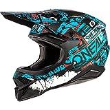 O'NEAL   Casco Motocross   MX Moto   Guscio in ABS, Standard di sicurezza ECE 22.05, Prese d'aria per una ventilazione e raffreddamento ottimali   3SRS Helmet Ride   Adulto   Nero Blu   Taglia XL