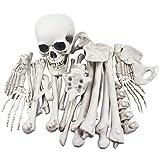 XONOR 28 Piezas de Esqueleto de Huesos y Calavera para decoración de Halloween o Cementerio escalofriante decoración de Suelo