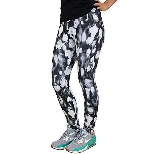 Nike W NSW lggng AOP–Pantaloni per Donna, Donna, W NSW Lggng AOP, Nero, M