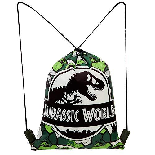 Jurassic World Sacca Sportiva per Bambino, Borsa Zaino per Asilo, Palestra, Piscina, Viaggio, Portascarpe