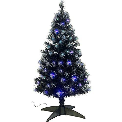 Black Fibre Optic Christmas Tree - 4ft