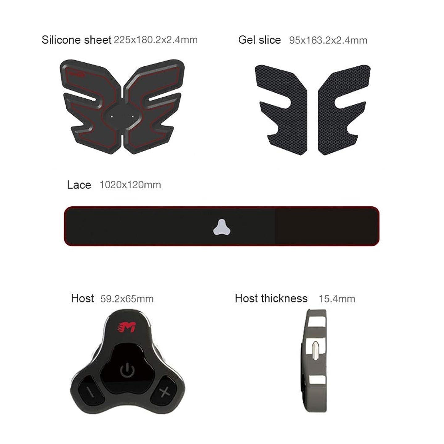 偏差見つけた依存Abベルト、筋肉刺激装置、EMS Abs Trainer腹部ベルトUSB充電式筋肉用トナーAbs Arms脚用Absサポートベルト&男性用?女性用 (Size : Host+Belly paste)