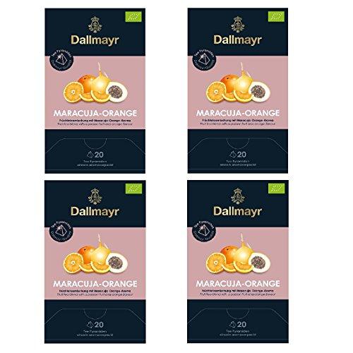 4 x Dallmayr Maracuja - Orange Bio Früchtetee 20 Pyramiden x 4g