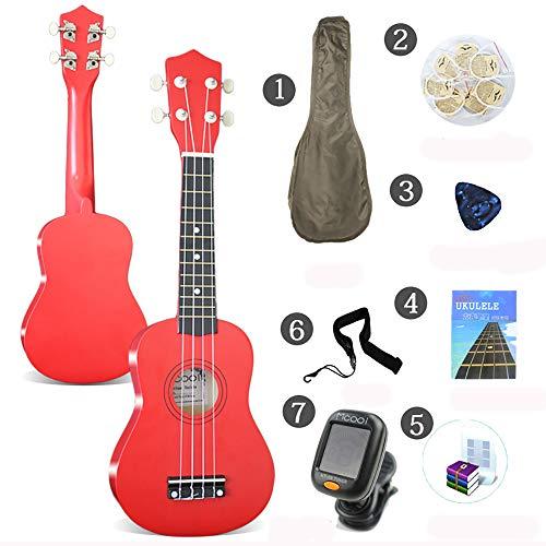 CX ECO Konzert 21 Zoll Hawaiian Ukulele Instrument mit Gig Bag & Aquila String & Digital Tuner & Strap & Poliertuch für Erwachsene und Kinder,C