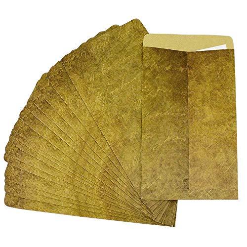 Rayong 25 Stück Vintage Umschläge 20 x 12 cm Briefumschläge Vintage, Briefumschlag din Lang für Einladungkarten Geschenkkarten, ohne Fenster