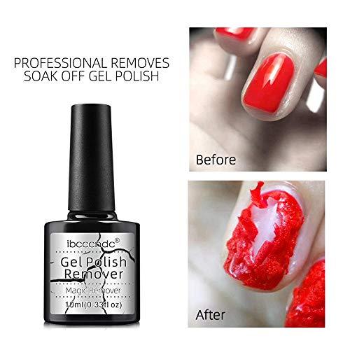 Magic Nail Polish Remover, Volwco Burst Nail Remover scoppiare in 3-5 minuti, facilmente e rapidamente, non danneggiare le unghie, smalto gel smalto per unghie smalto per unghie Soak Off Nai