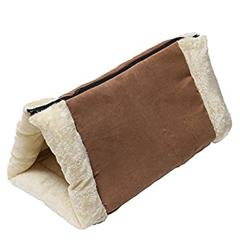 Invero® - Tunnel pour chat et tapis pour animaux de compagnie chauffant à noyau thermique doux et confortable 2 en 1 - idéal pour tous les chats, chiots et petits chiens