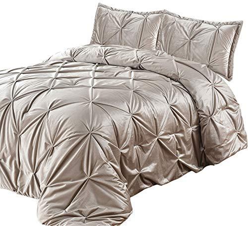 Lewima 3D XL Biesen Edel Luxus hochwertige Velvet Bettüberwurf Tagesdecke 240x260cm Überwurfdecke Farbe: Blond