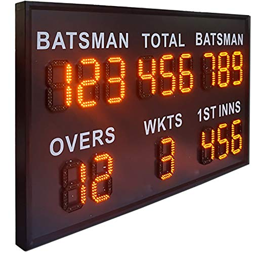 JTRHD Marcador portátil Monocromo Pantalla de puntuación Móvil Inalámbrico Resaltado LED Pantalla de puntuación Pantalla de puntuación electrónica de Cricket para Tenis de Mesa Baloncesto