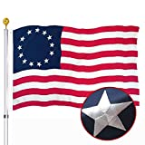Embroidered Betsy Ross American US Flag 3x5 Outdoor- 13 Stars Colonies Primitive USA Stitched Flags Embroidered Stars Sewn Stripes Heavy Duty Banner