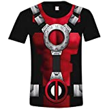 Marvel Herren T-Shirt Costume Deadpool, Mehrfarbig (Sublimation), XL