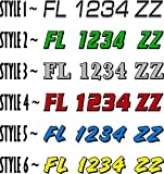 Boat Registration Numbers 2CL / 2 Pack / Custom State Registration Stickers / Vinyl Boat Decal Graphics Pair Registration Numbers