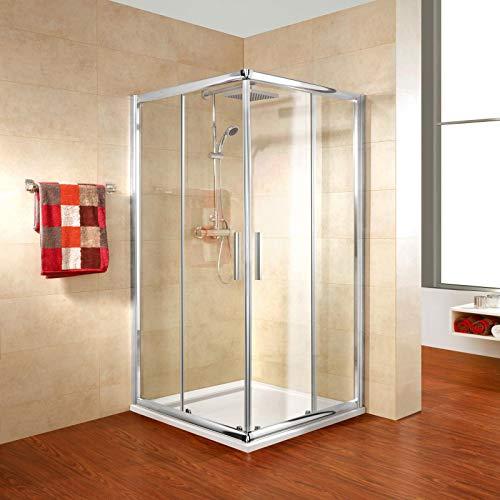 Schulte D508006 41 50 31 Kristall/Trend Duschkabine Eckeinstieg II, chromoptik