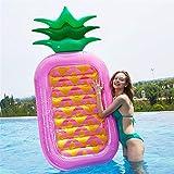 Zavddy Colchonetas y Juguetes Hinchables Gigante Globo de piña Piscina Flotador Divertido Grupo Piscina Nadar Juguete for niños/Adultos Actividades acuáticas (1 Paquete) para la Piscina