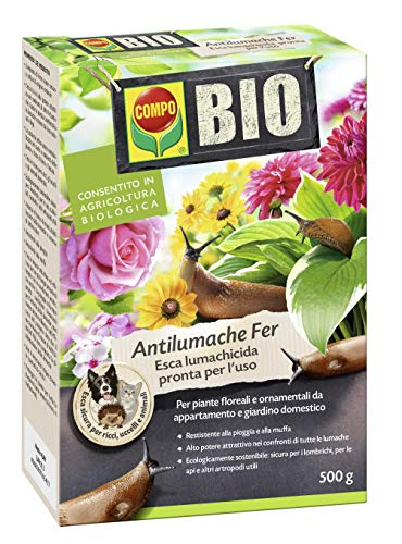 Compo Bio Antilumache per Piante Floreali da Appartamento e Giardino, Esca lumachicida pronta all'Uso, 5.5x12x15.3 cm