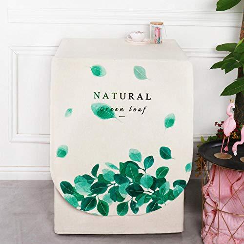 JRTILES wasmachine, beschermhoes, waterdicht, van stof, met ritssluiting, stofbescherming, geschikt voor wasdroger en wasmachine, 60 x 60 x 83 cm