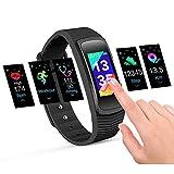 icefox Ice Unisexe Adult 1 Trackers, Smart Fitness Bracelet Montre étanche IP67 Bluetooth Tracker avec Pulse Mesureur de fréquence Cardiaque Moniteur de Sommeil, podomètre de Calories, Noir, 1